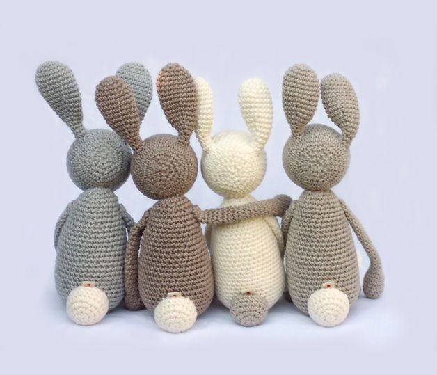 """For Babies - """"Stupshase"""" - Cuddly, hare - a designer piece of an idea on DaWanda"""