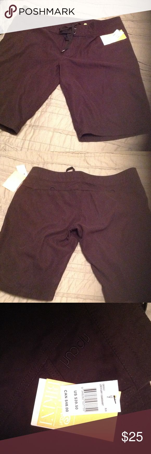 Rip curl women's board short Black rip curl board short brand new.  My pics they look faded but are not...same color as stock photo. Rip Curl Shorts Bermudas