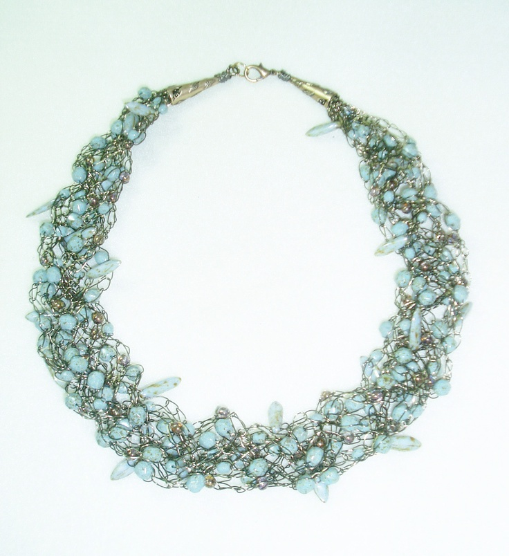 118 best jewelry - wire crochet knit images on Pinterest | Wire ...