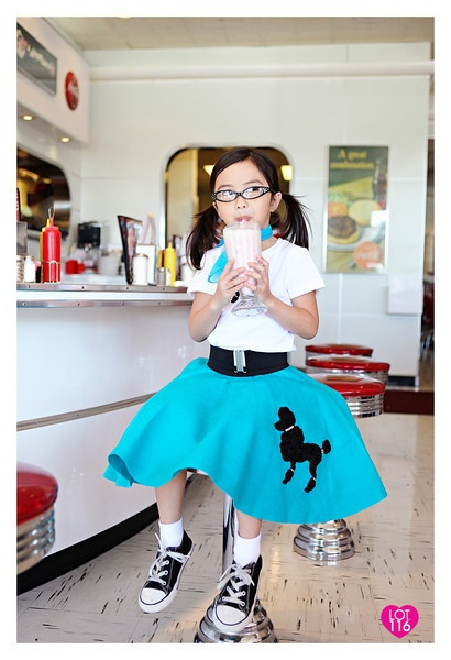 PJ's birthday invite shoot 50's sock hop milkshake