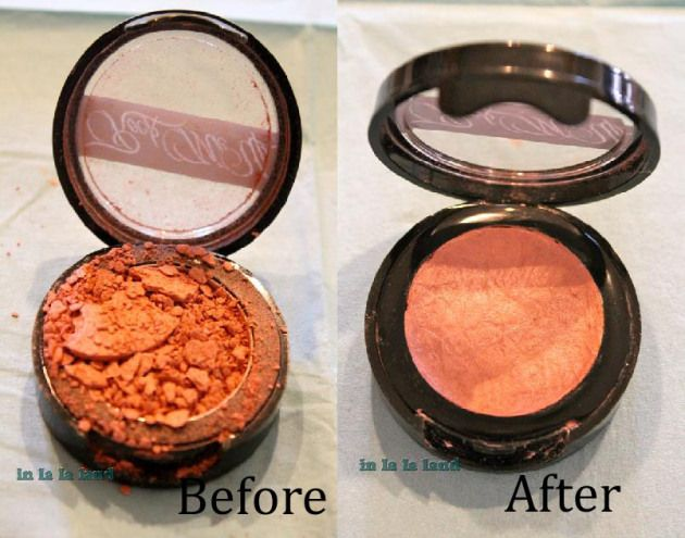 Every girl should know how to do this! Fix your broken blush or powders