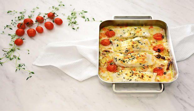 Torsk bakt i ovnen er noe av det enkleste du kan lage #fisk #oppskrift #middag