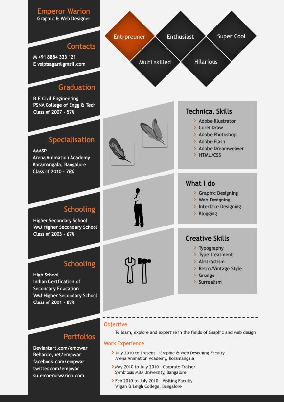Best Creative Resumes Images On   Creative Resume