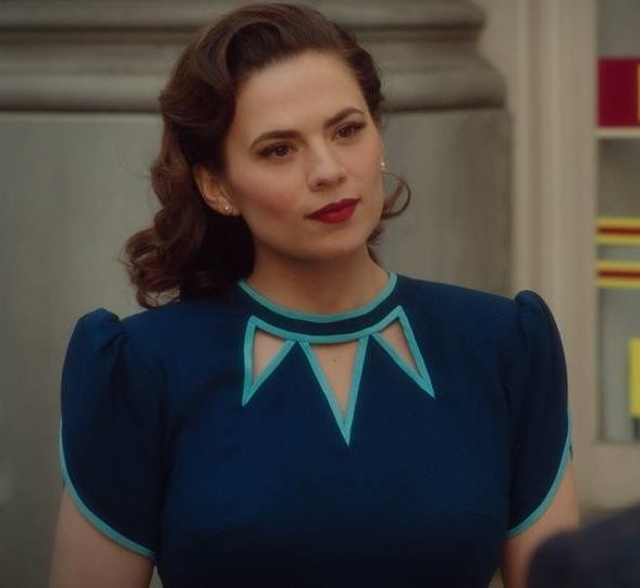 ... Season Two - cropped pic of Peggy's 'trio of triangular cut…