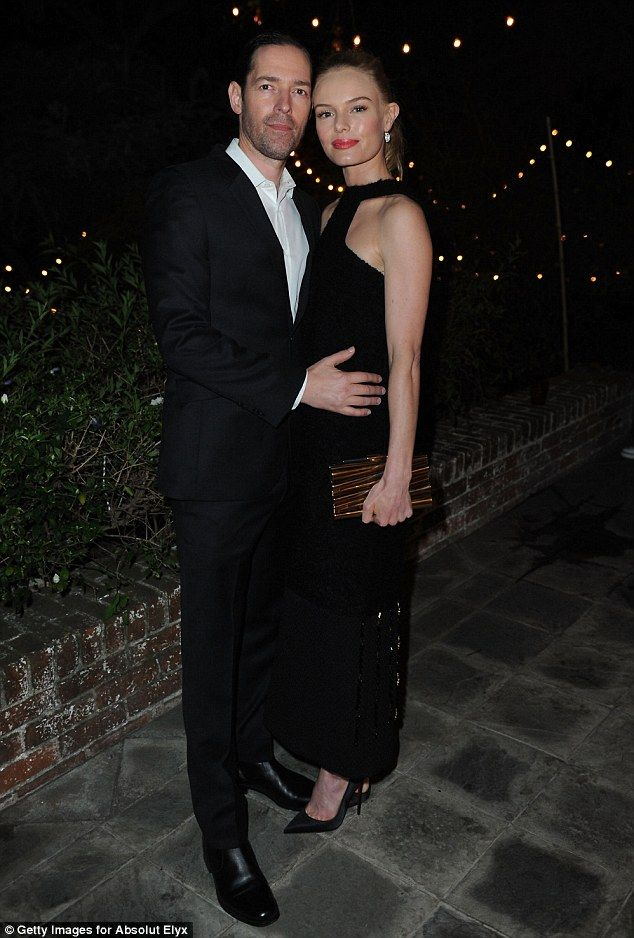 In love: Kate Bosworth looked a million dollars when she attended Dana Brunetti's Pre Osca...