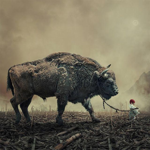 Caras Ionut è un artista rumeno che vive nel mondo fantastico di Photoshop dove assembla paesaggi e composizioni fotografiche surreali.