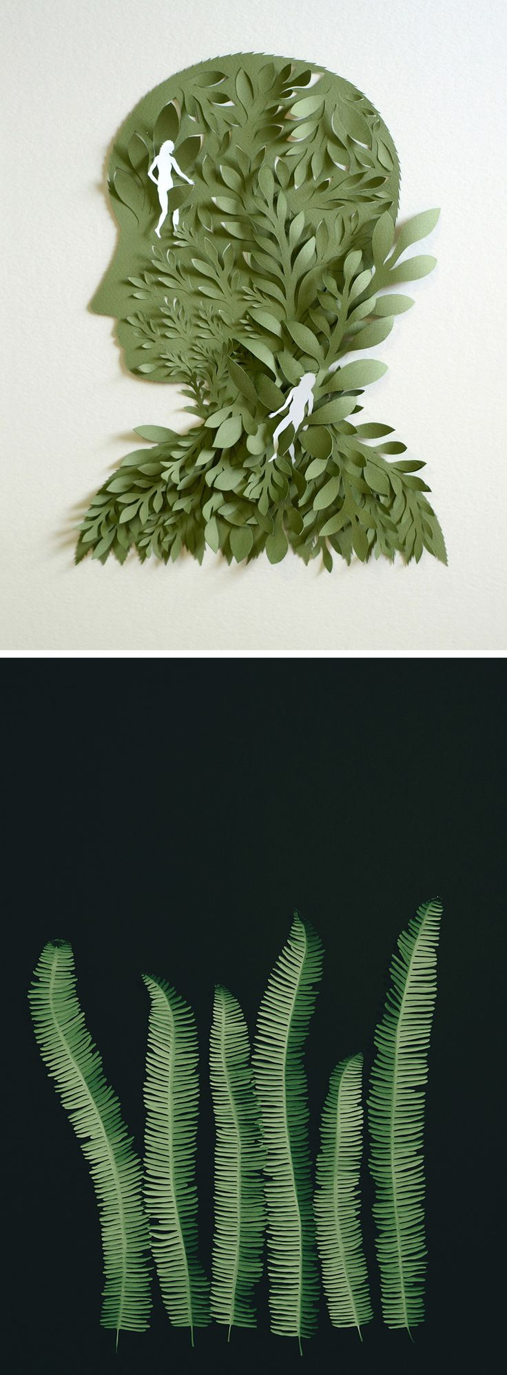 Paper illustration | cut paper art | paper craft | nature illustration