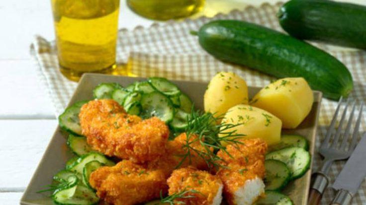 Bei Fischstäbchen schlagen Kinderherzen höher, vor allem wenn sie den Fisch selbst mit Cornflakes panieren dürfen.