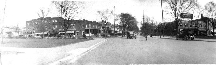 This is the view at 15th and High in 1922. You are looking east up 15th Ave. The building on the right is the legendary Long's bookstore where generations of Buckeyes did their textbook and supply shopping.  The Ohio State University