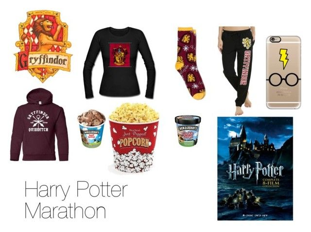 """""""Harry Potter Marathon"""" by katelight ❤ liked on Polyvore featuring West Bend, Warner Bros. and Casetify"""