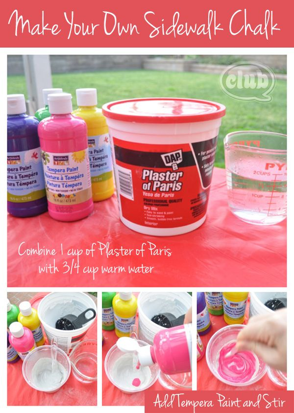 How to Make Your Own Sidewalk Chalk - really easy, and perfect weekend craft idea