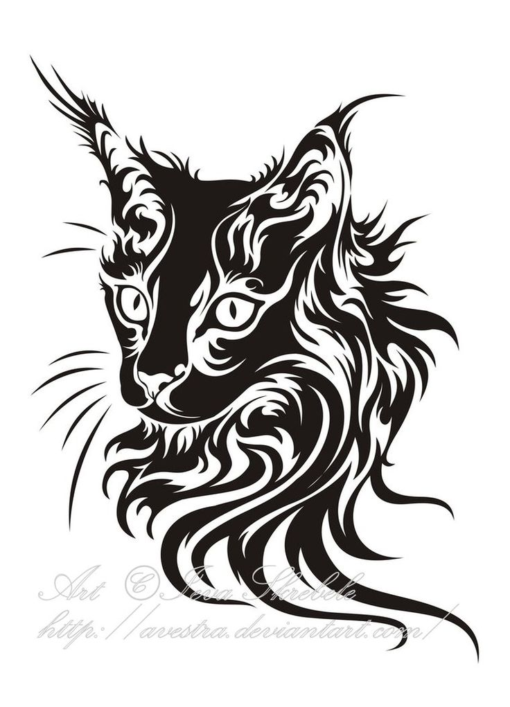 Cat Head Tribal by Avestra on DeviantArt