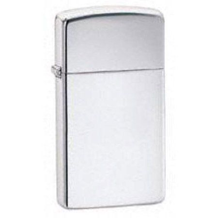 Zippo Slim High Polished Chrome Lighter, Silver