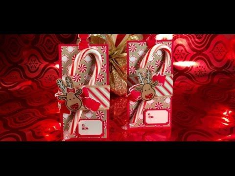 """""""26"""" Sleeps Till Christmas - Candy Cane Holder with Stampin' Up! Warm & Cheer Suite - YouTube"""
