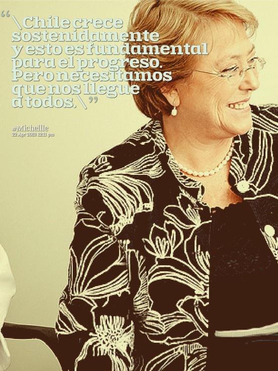 #Desigualdad #Michelle #Crecimiento #Bachelet