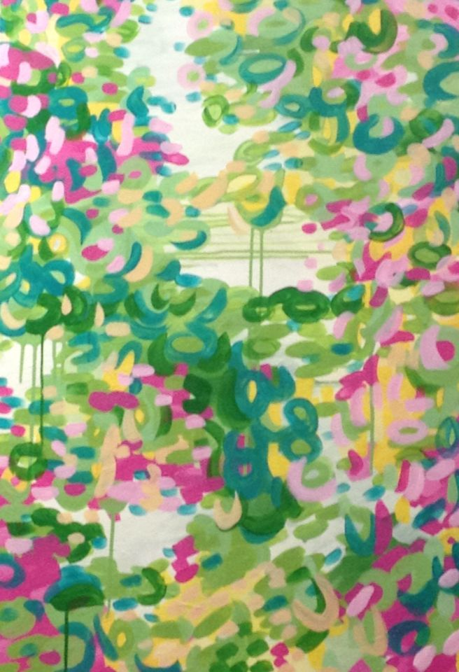 GiaPaints Springtime willows Acrylic on canvas $595