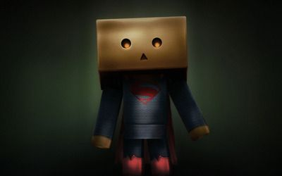 Danbo Superman wallpaper