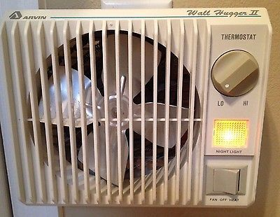 Arvin Wall Hugger Ii Model Wh 20 Vintage No Cord Portable Space Heater Fan Nice