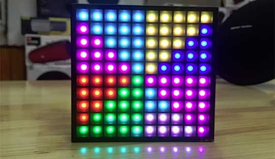 Divoom Aurabox Bluetooth Portable Speaker with LED panel to create Pixel Animation