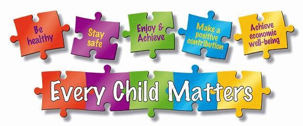 1.3 - Every child matters provides five national outcomes, this information provides the goals that every child should look to achieve. The goals are to be healthy, to stay safe, make a positive contribution, enjoy and achieve and to achieve economic well being. As being part of a school, the school has a responsibility to make these guidelines a part of school. Some schools include these five outcomes in lessons like CPHSE or PHSE. Every Child Matters is looked at nationally and locally.