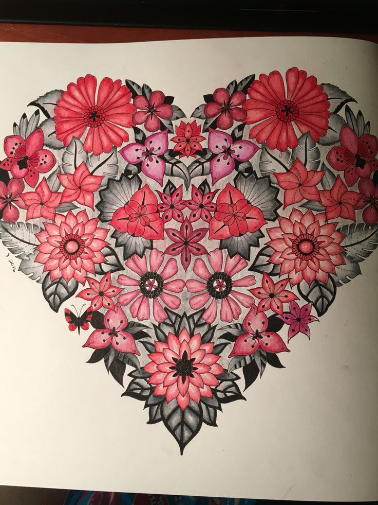 Johanna Basford Magical Jungle Prisma Color Pencils Heart