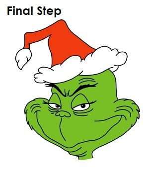 Draw The Grinch Final Step Christmas Grinch Christmas