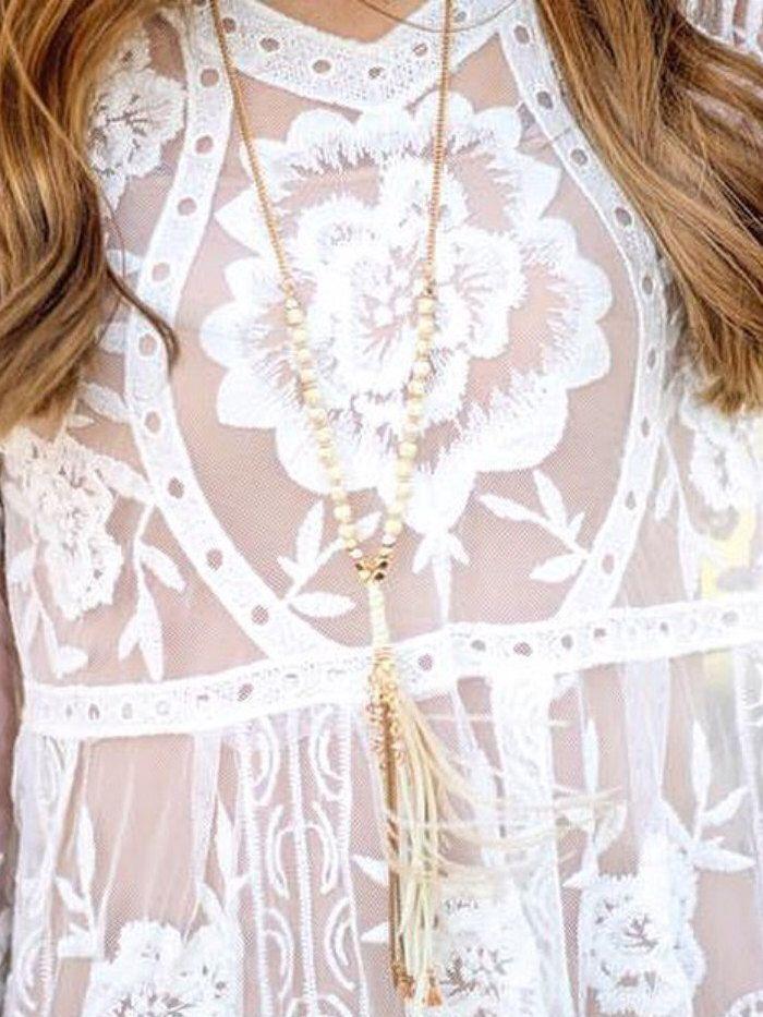 1920er Jahre Stil Boho böhmischen Zigeuner Downton Abbey Flapper Kleid französische Spitze lange Ärmel schiere Top Bluse weiß romantische Engel von MiaDressShop auf Etsy https://www.etsy.com/de/listing/476511655/1920er-jahre-stil-boho-bohmischen