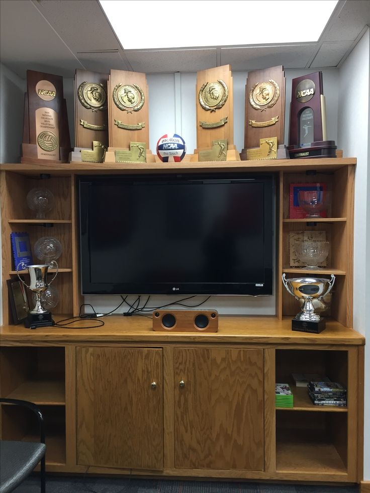 Ohio State Men's Volleyball Locker Room Trophy Display