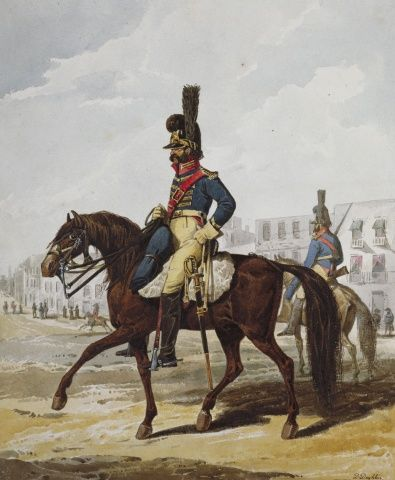 Portuguese Army.  Vavalry Police Guard of Lisbon, 1812.