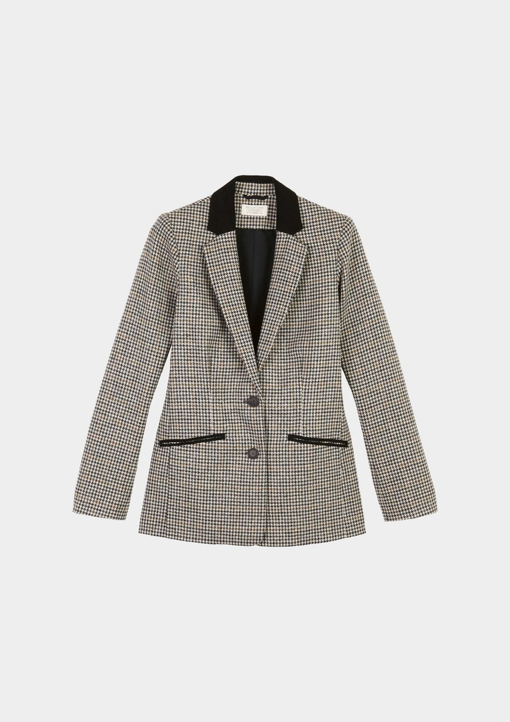 HOUNDSTOOTH FITTED JACKET | TOAST on sale