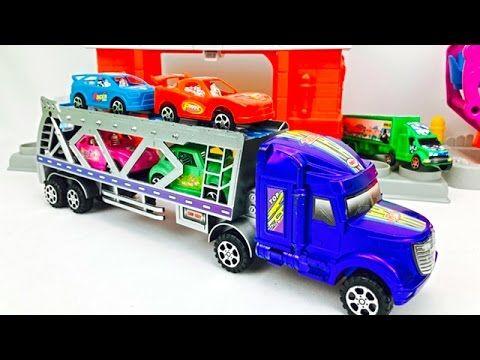 Camiones Para Niños - Camion Transportador Autos Infantiles - De Colores con Carros y Superheroes - YouTube