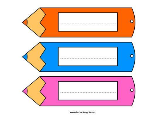 Accoglienza scuola - Segnalibro matita
