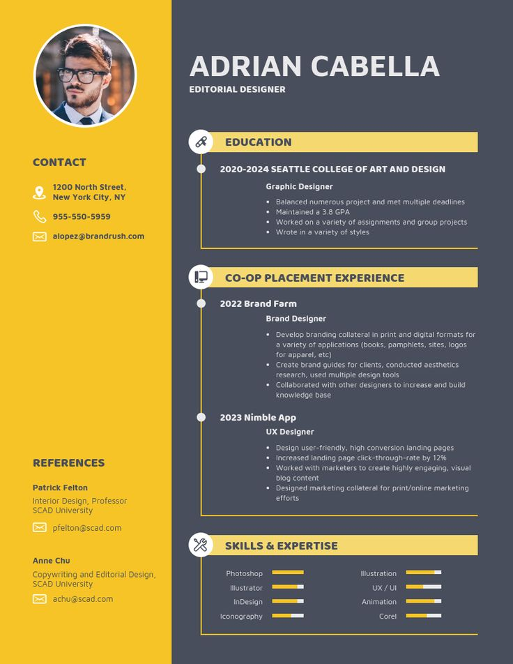 Bold college student resume template in 2020 student