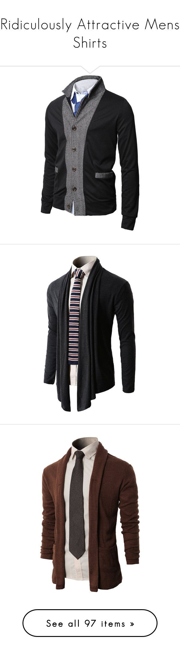 """""""Ridiculously Attractive Mens Shirts"""" by kahluacupcakes ❤ liked on Polyvore featuring mens, men's clothing, men's sweaters, men, men's outerwear, menswear, guy, blusas de frio masculina, suits and guys"""