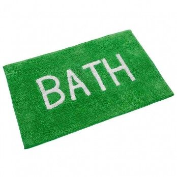BATH Phrase Fern Green Bath Mat