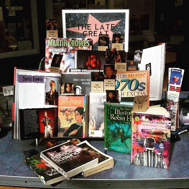 44 best library displays images on pinterest library displays the sky is darker without these talents girvan library celebrates the achievements of david bowie fandeluxe Choice Image
