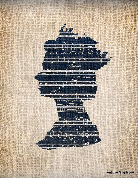 Antique Queen Music Illustration Digital by AntiqueGraphique, $1.00