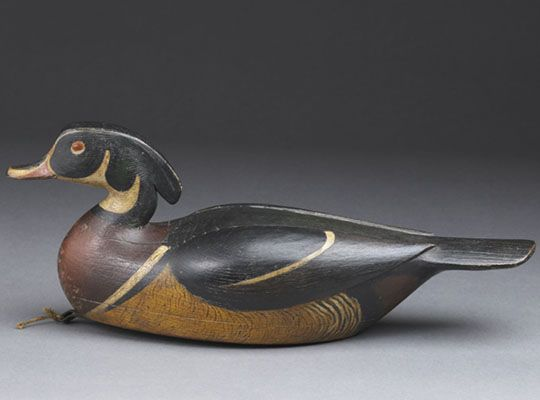 This is a vintage wood duck decoy, come and see the wonderful collection of duck decoys and shore birds at Berkshire Museum! #BerkshireCollects