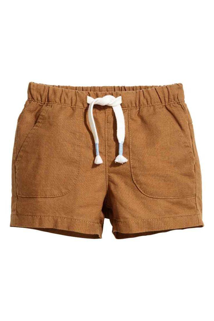 Pantalón corto sin cierre - Camel -   H&M ES 1