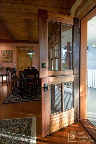 Exterior door to mud room