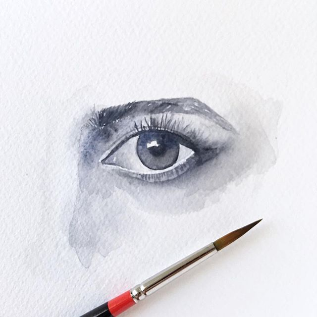 Watercolor Eye Study Watercolor Watercolor Eyes Eye Drawing