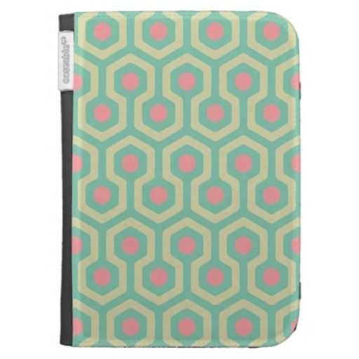 Abstract Geometric Beehive Pattern Kindle Case