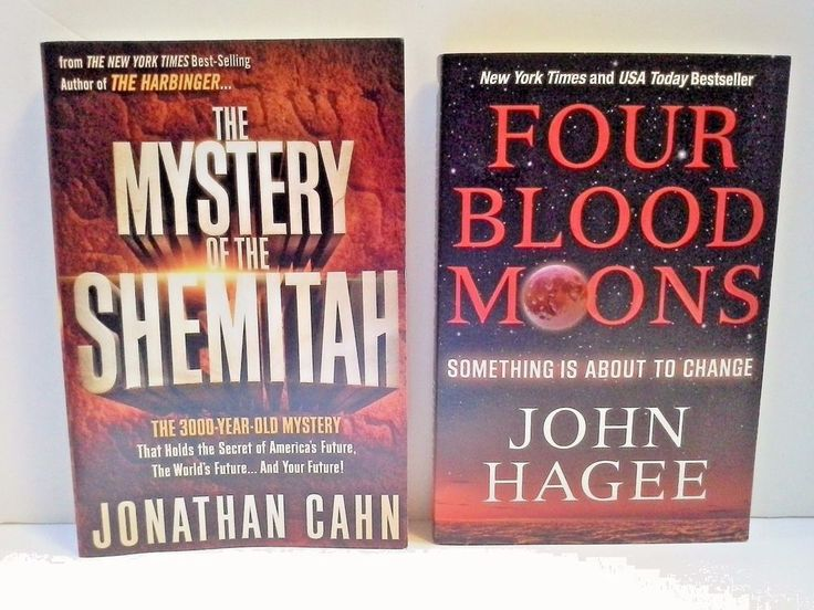 Mystery of the Shemitah & Four Blood Moons Books by Jonathan Cahn & John Hagee #PaperbackNonfiction
