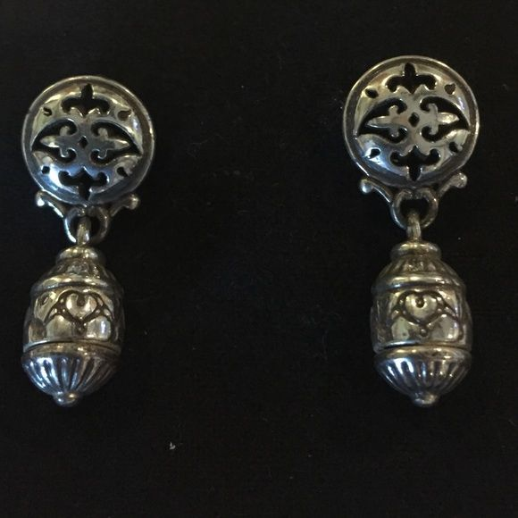 Vintage, Brighton earrings Vintage silver pierced earrings, Brighton Brighton Jewelry Earrings