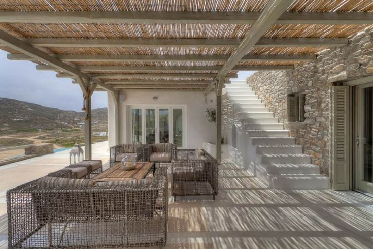 A stunning hilltop property on the Greek island of Mykonos, Villa Simone is located just 70m away from the charming bay of Ftelia. It is built on a private area of 6.000 sq.m, which ensures ultimate privacy to the visitor.