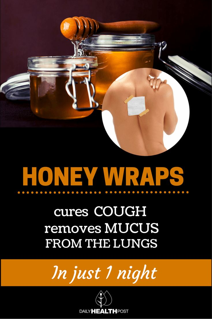 Honey Wraps Gently Cures Cough And Removes Mucus From The Lungs In Just One Night! via @dailyhealthpost