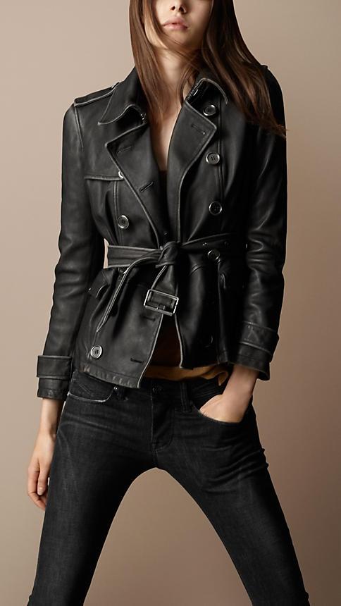 wishlist worthy: cropped Burberry leather jacket