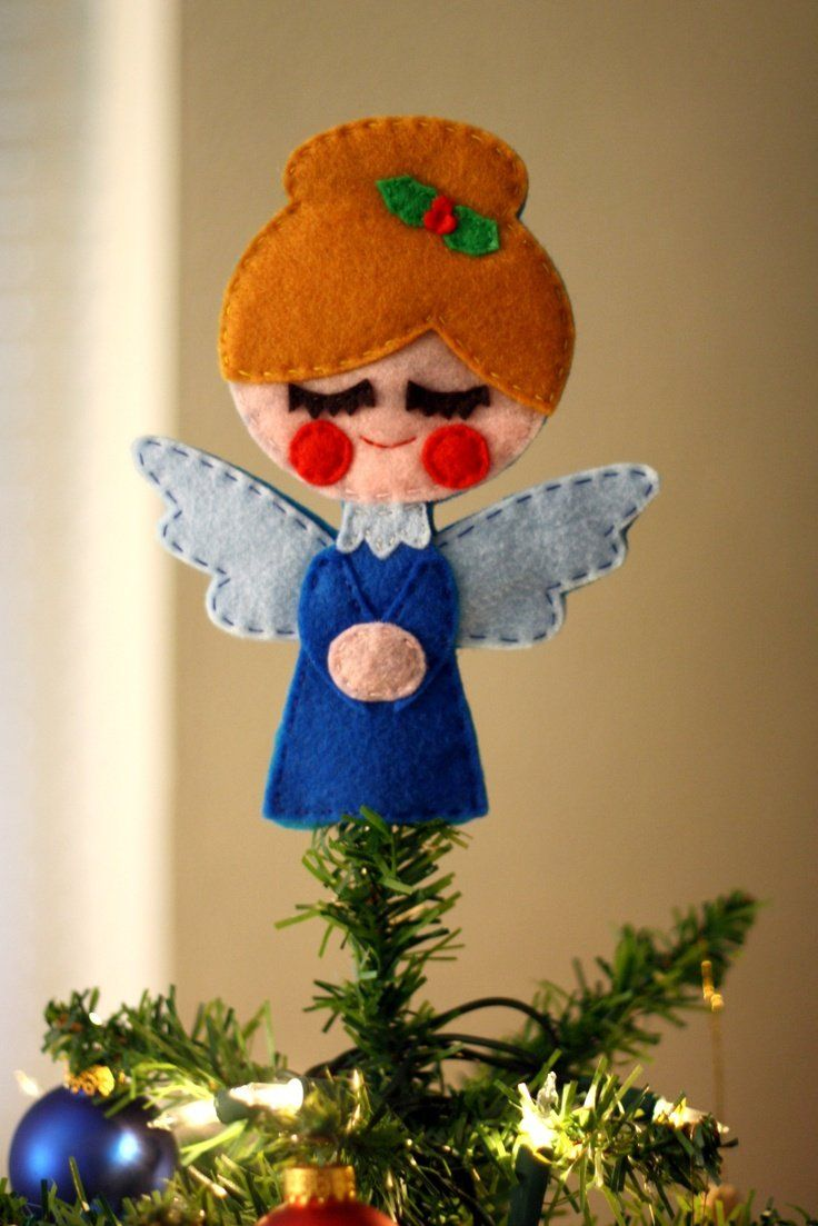 Something like this would be cute for a small table top tree. For inspiration only... no pattern.