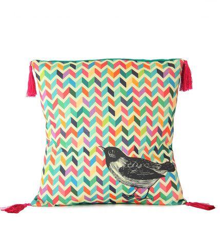Rainbow Chevron Cushion Fabric designed by Cloud Nine Creative  www.cloudninecreative.co.nz