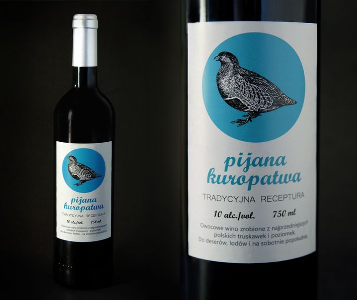 "Etykieta do wina ""Pijana Kuropatwa"" Wine label ""Drunk Partridge"""